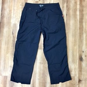 REI Black Hiking Pants/Capris UPF 50+ 12